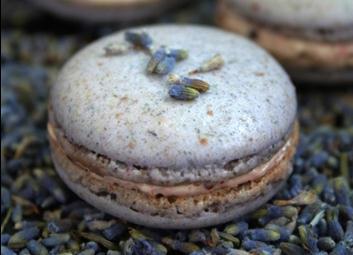 Violet lavender macarons