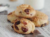 English mignardises cranberry and walnut scone