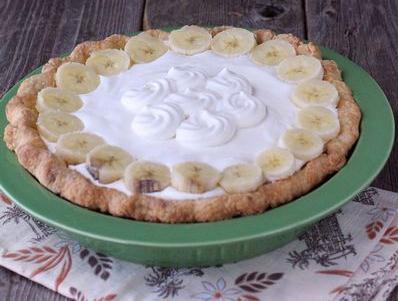 American banana cream pie