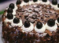 Black forest cherry cream cake