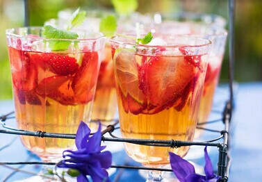 Blueberry and Strawberry Punch with Oranges