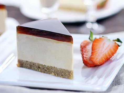 Coffee caramel cheese cake