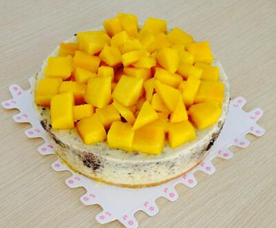 Peach mousse cake