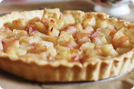 Cheese Yellow Peach Pie