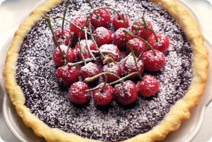 Cherry Chocolate Cream Pie