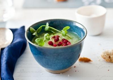 Lemon Cucumber and Fresh Pea Soup