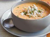A bowl of crab soup
