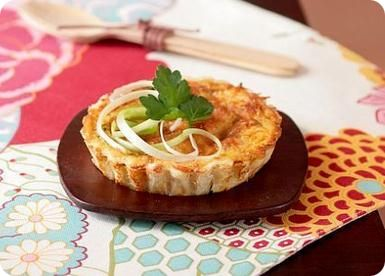 Bacon, onion and parsley tartlets