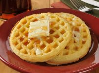 Making Waffles with a Waffle Maker